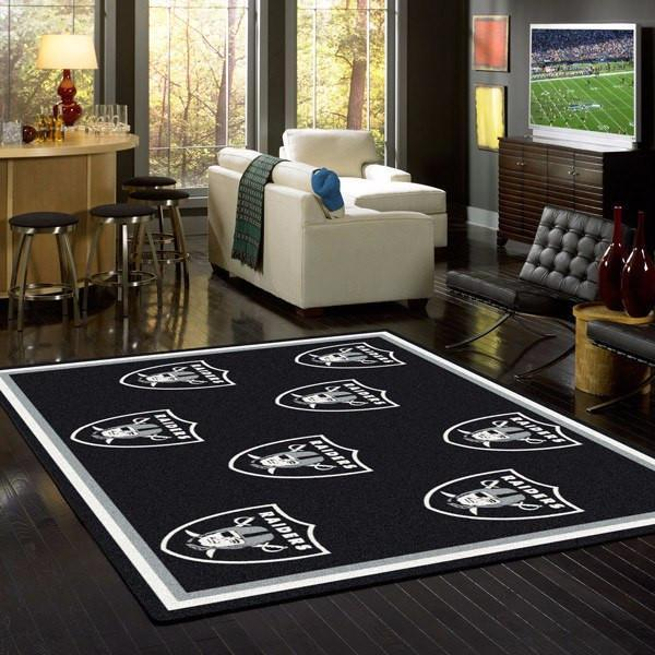 Oakland Raiders Rug NFL Team Repeat
