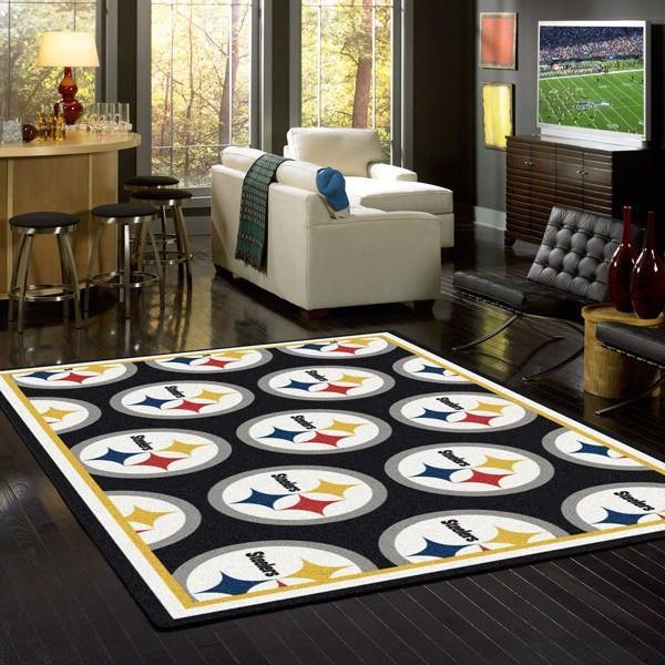 Pittsburgh Steelers Rug Repeating Logo