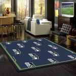 Seattle Seahawks Rug repeating Logo
