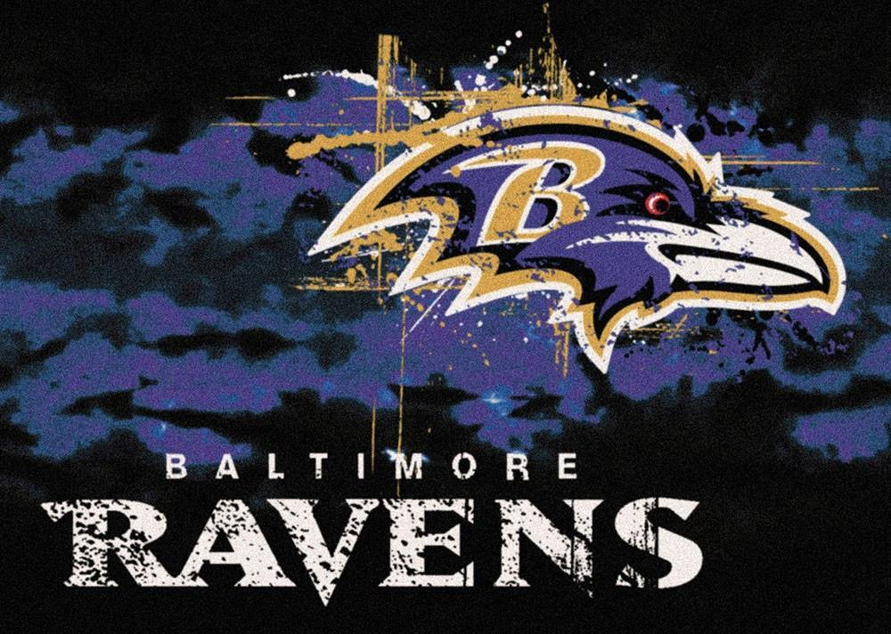 Baltimore Ravens Area Rug NFL Team Fade