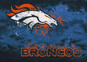 Denver Broncos Area Rug NFL Team Fade