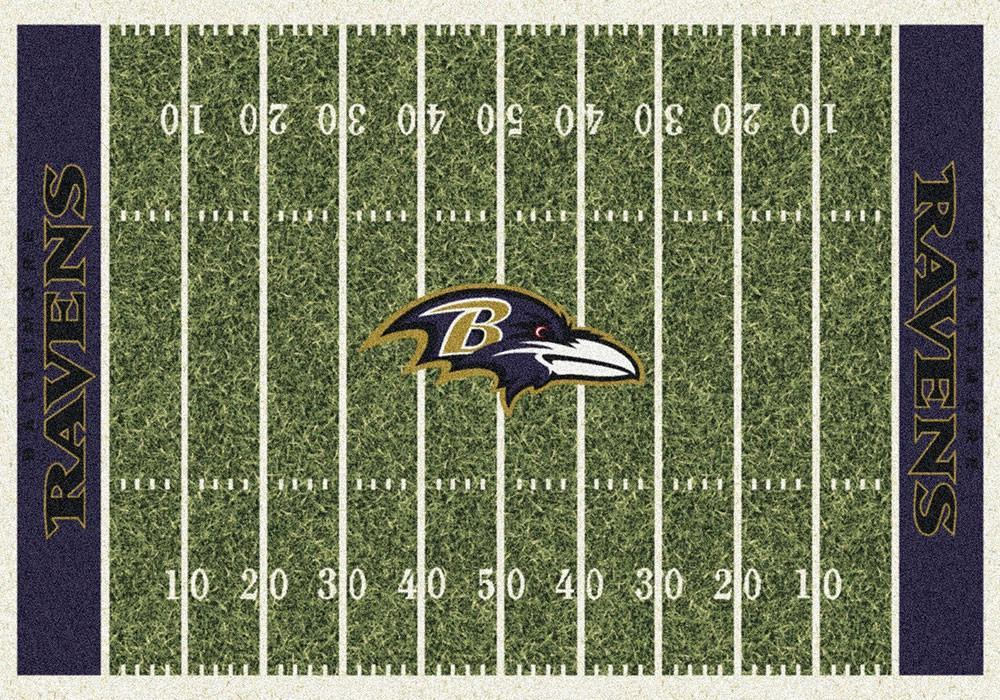 Baltimore Ravens Area Rug NFL Football Field