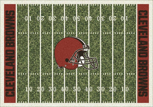 Cleveland Browns Area Rug NFL Football Field