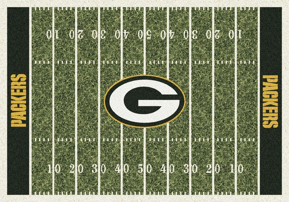 Green Bay Packers Football Field Rug