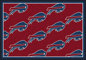 Buffalo Bills Rug Repeating Logo