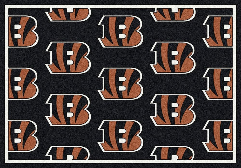 Cincinnati Bengals Rug Repeating Logo