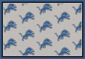 Detroit Lions Rug Repeating Logo