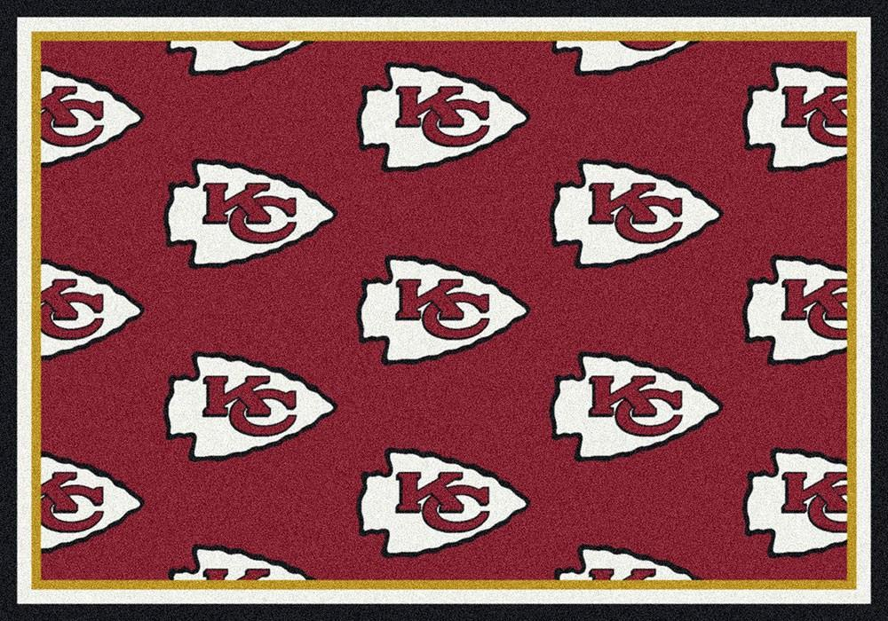Kansas City Chiefs Rug Repeating Logo