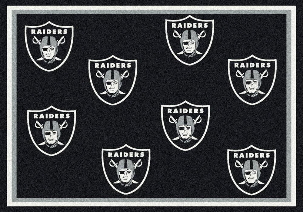 Oakland Raiders Area Rug NFL Team Repeat