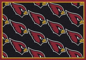 Arizona Cardinals Area Rug NFL Team Repeat