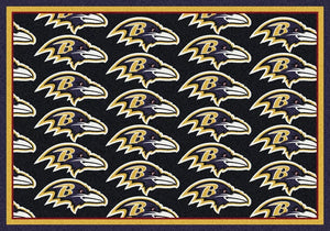 Baltimore Ravens Area Rug NFL Team Repeat