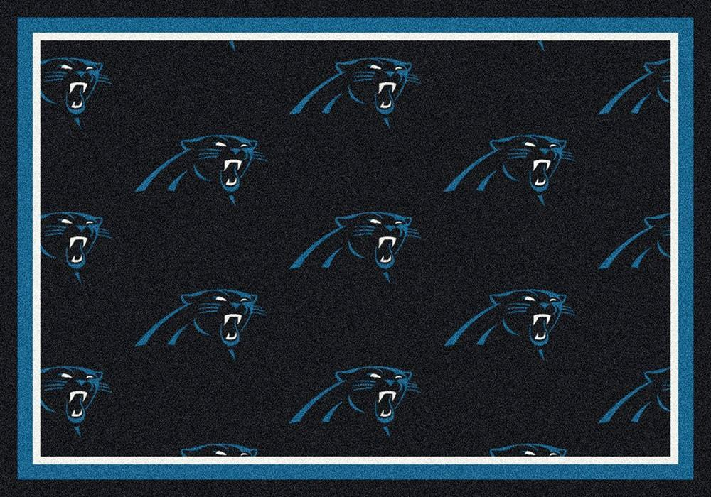 Carolina Panthers Area Rug NFL Team Repeat