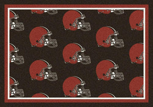 Cleveland Browns Area Rug NFL Team Repeat