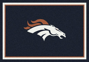 Denver Broncos Area Rug NFL Team Spirit
