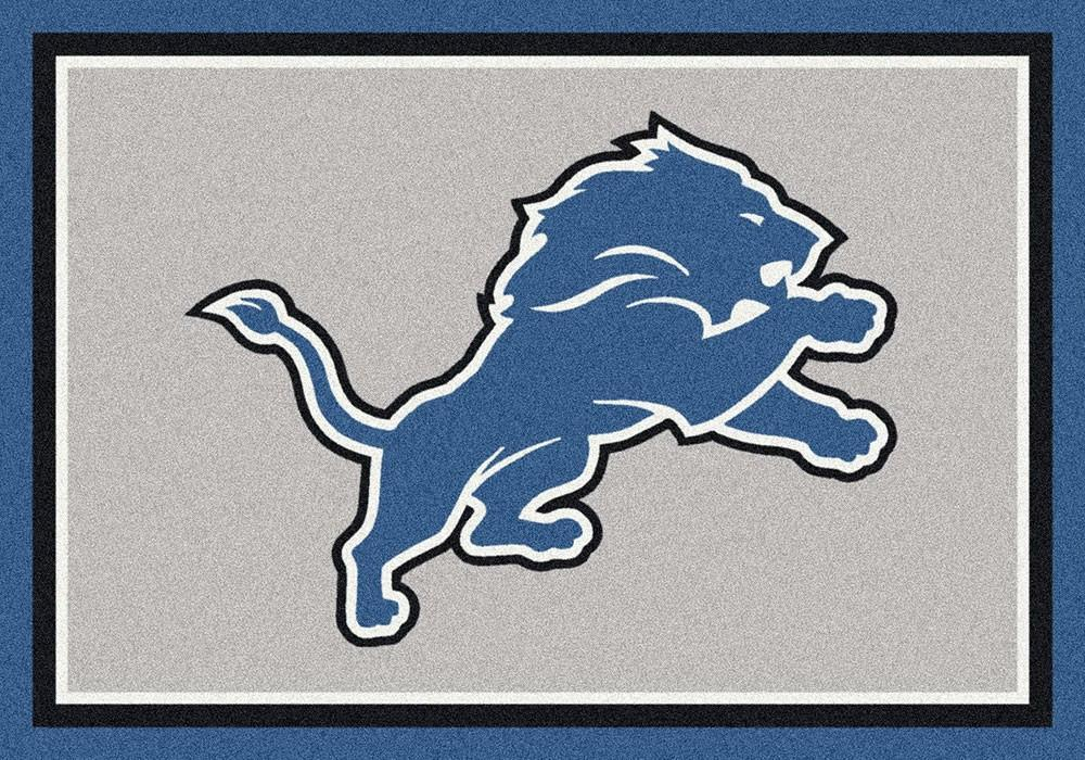 Detroit Lions Area Rug NFL Team Spirit