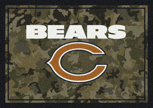 Chicago Bears Camouflage Rug