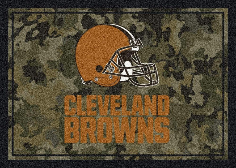 Cleveland Browns Area Rug NFL Team Camo