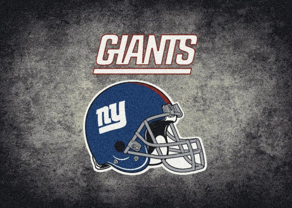 New York Giants Area Rug NFL Team Distressed