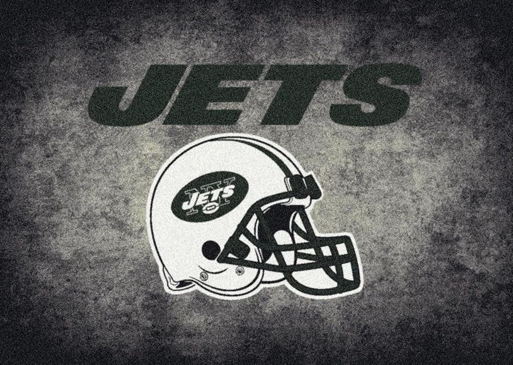 New York Jets Area Rug NFL Team Distressed