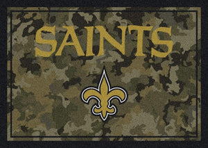 New Orleans Saints Camouflage Rug