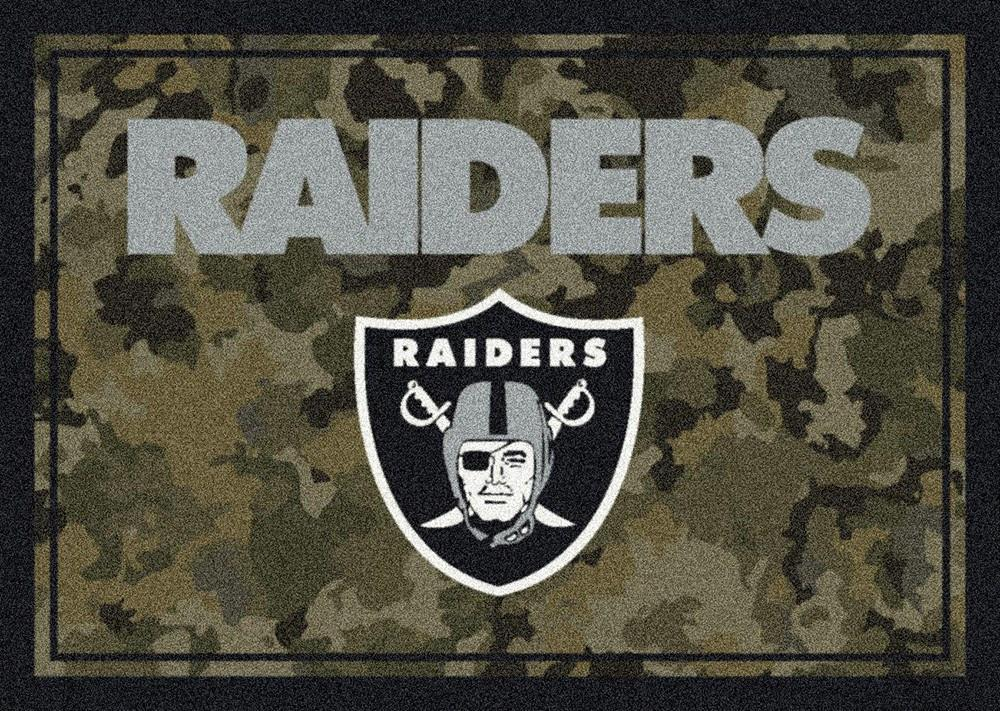 Oakland Raiders Area Rug NFL Team Camo