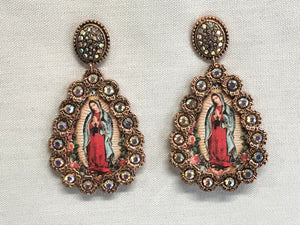 Earrings Guadalupe Virgin