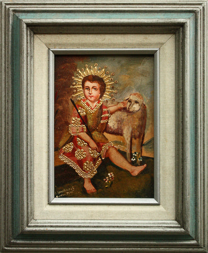 Infant Jesus with Lamb oil painting 5