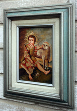 "Load image into Gallery viewer, Infant Jesus with Lamb oil painting 5""x7"""