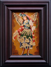 "Load image into Gallery viewer, Archangel St Michael oil painting 6""x4"""