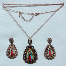 Load image into Gallery viewer, Guadalupe Virgin Set-Necklace and Earrings
