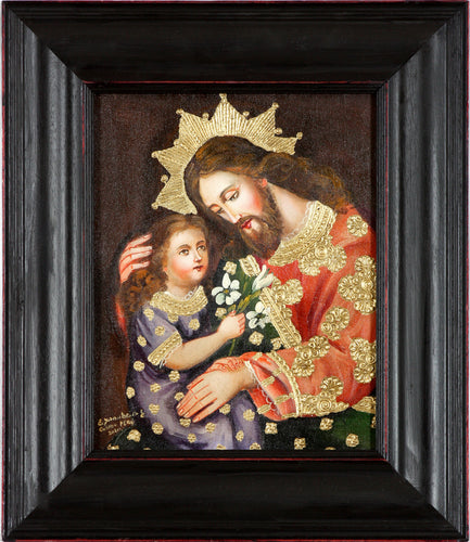 St Joseph and baby Jesus oil painting 8
