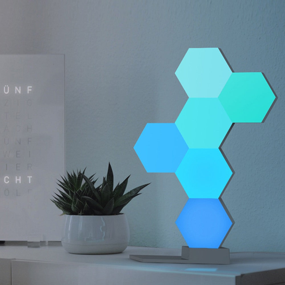 APP Control Colorful Quantum Lamp | Smart Touch | Creative Geometry Assembly LED