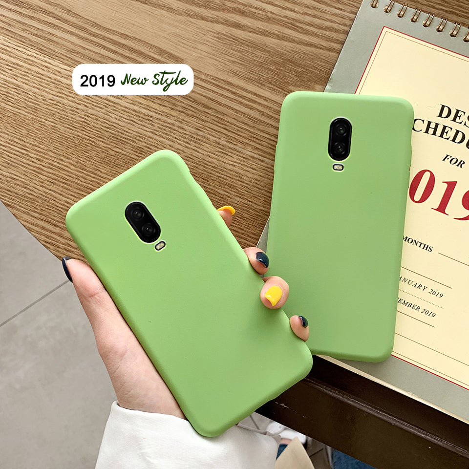 Fresh Original Eco Green Matte Soft Phone Case for OnePlus 7 Pro Protective Cover OnePlus 5 5T 6 6T Anti Knock Silicone Case