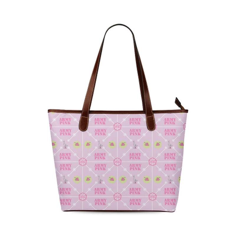 Diamond logo pattern on violet Shoulder Tote Bag (Model 1646) for  at ARMY PINK