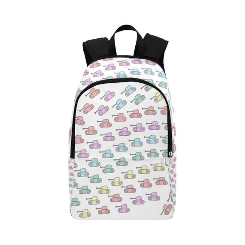 Pastel tanks Fabric Backpack ${product-type) ${shop-name)