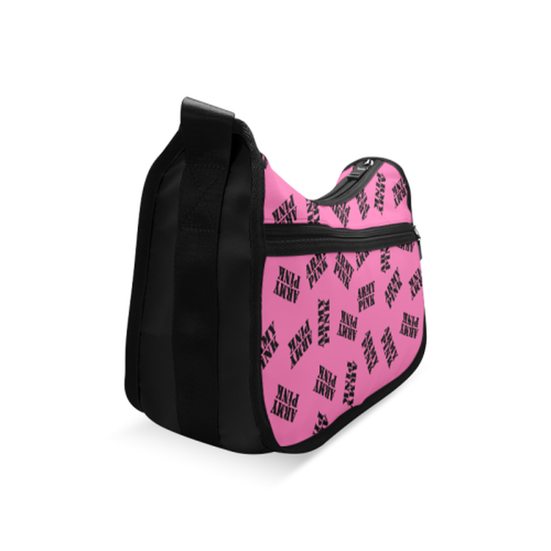 Pink black stamp Crossbody Bag ${product-type) ${shop-name)
