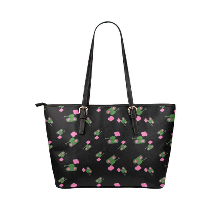 Black tank cloud leather Tote Bag for  at ARMY PINK