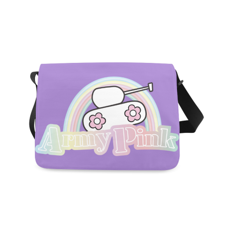 Rainbow on purple Messenger Bag ${product-type) ${shop-name)