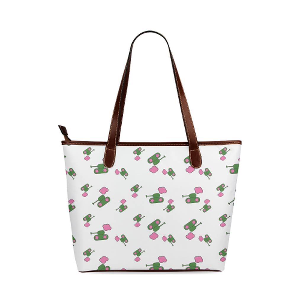 White tank cloud Tote Bag for  at ARMY PINK
