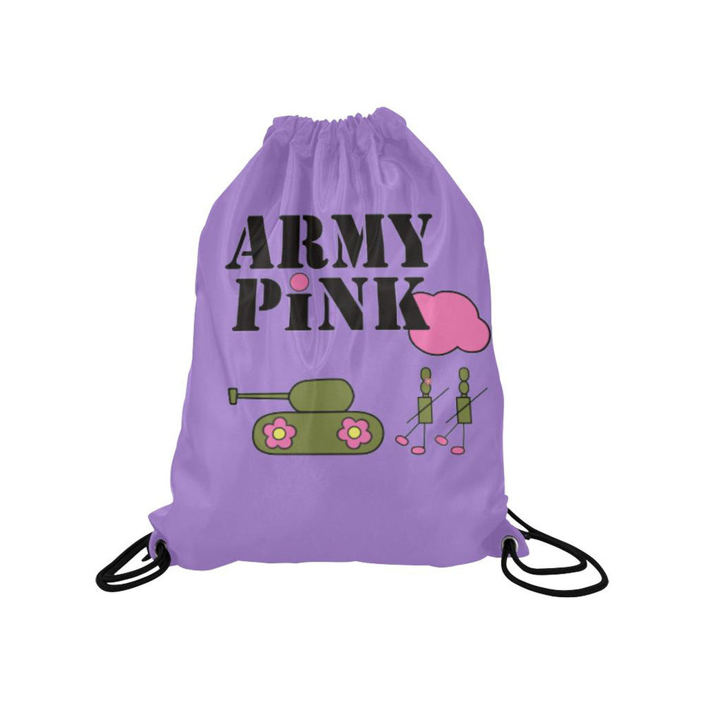 Purple logo Drawstring Bag for  at ARMY PINK