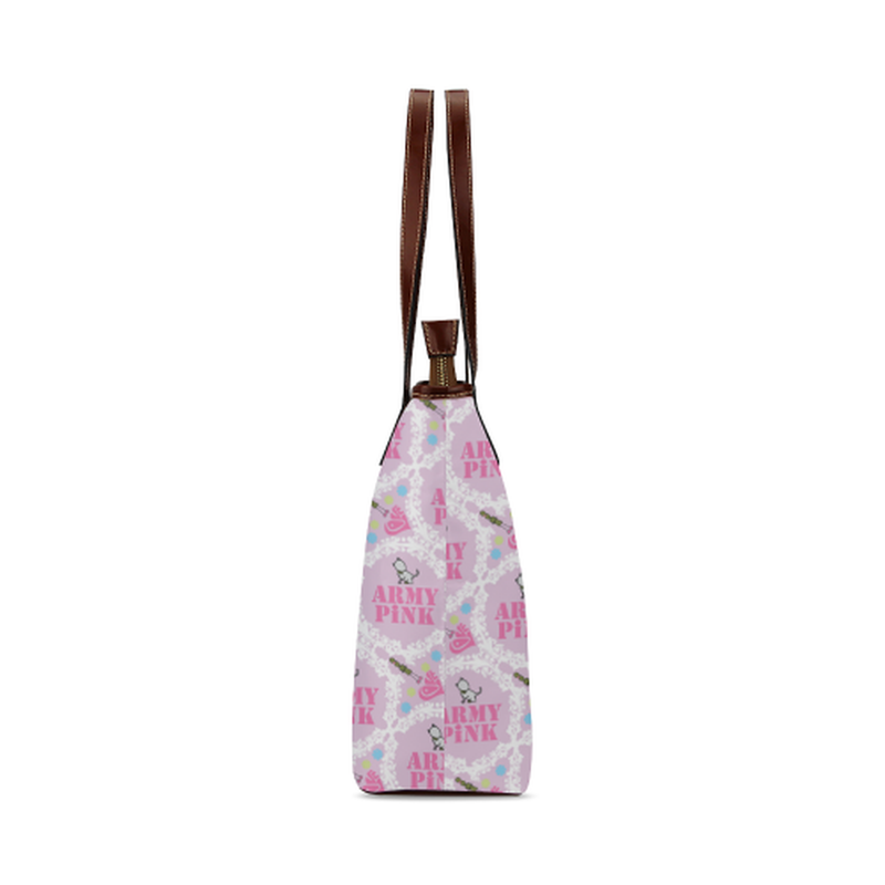 Pink white wreath Tote Bag for  at ARMY PINK