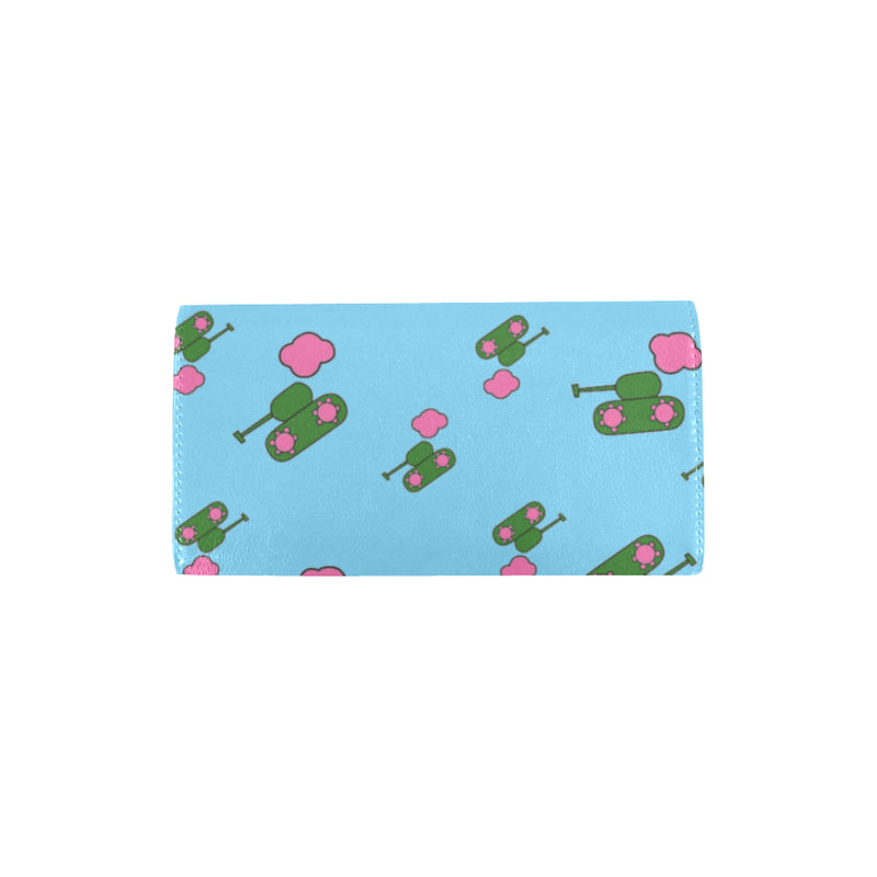 Tanks and clouds blue Trifold Wallet for  at ARMY PINK