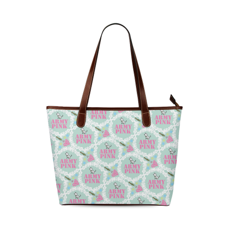 Mint white wreath Tote Bag ${product-type) ${shop-name)
