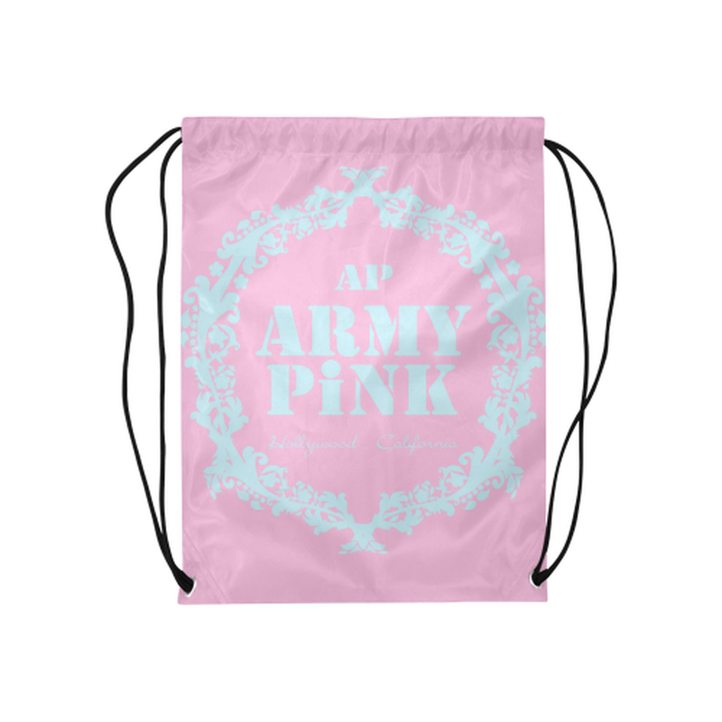 Pink mint wreath Drawstring Bag for  at ARMY PINK
