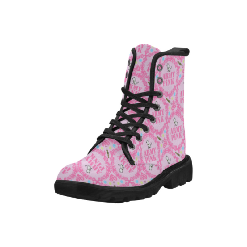 Pink wreath pink Martin Boots for 60.00 at ARMY PINK