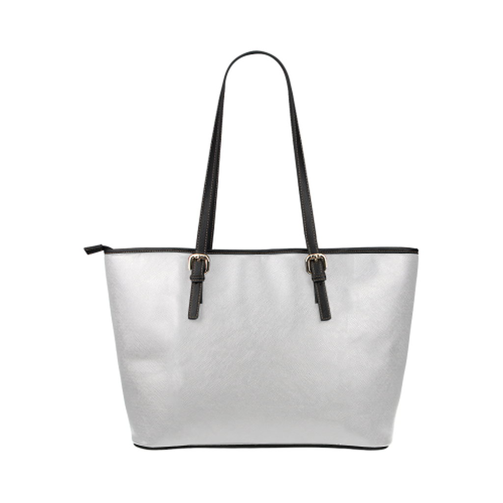 Gray logo leather Tote Bag for  at ARMY PINK