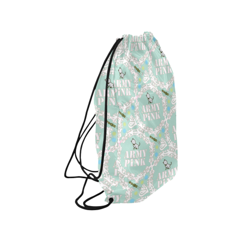 Mint white wreath Drawstring Bag for  at ARMY PINK