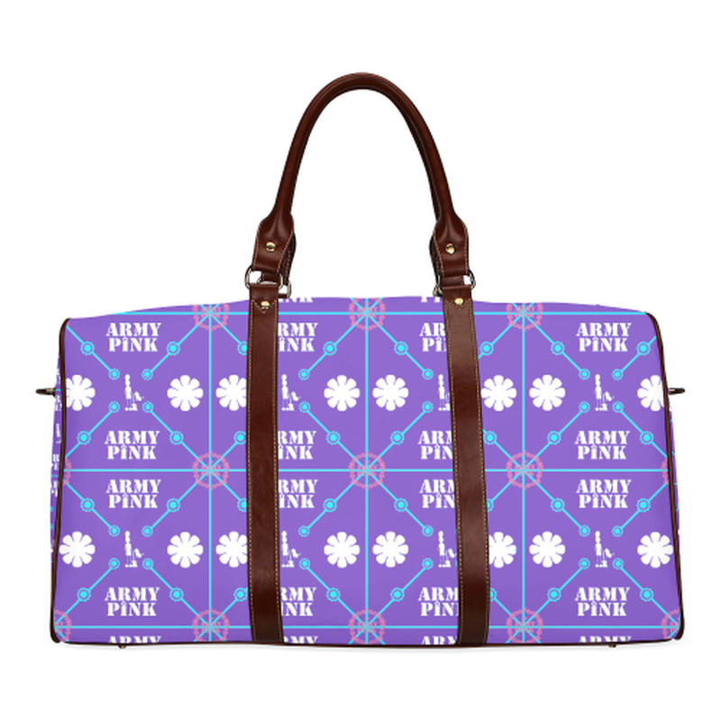 small travel bag diamond aop pn purple Waterproof Travel Bag/Small (Model 1639) for  at ARMY PINK