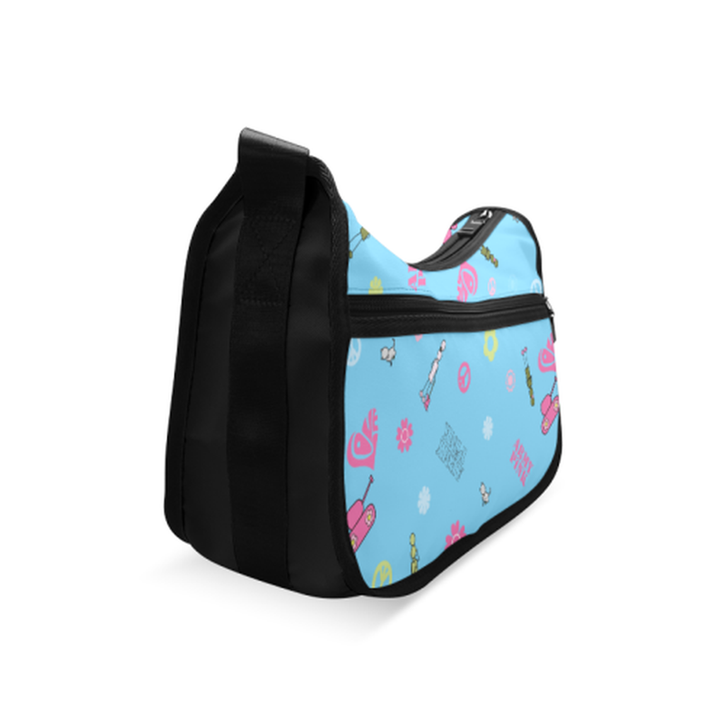 Logo print on bright blue Crossbody Bags (Model 1616) for  at ARMY PINK