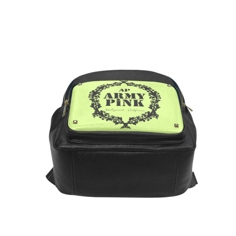 Black wreath on green Campus backpack/Small (Model 1650) for  at ARMY PINK
